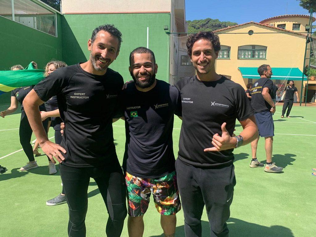 Carlos, Gonzalo y Leonardo compañeros de formación en hipopresivos madrid