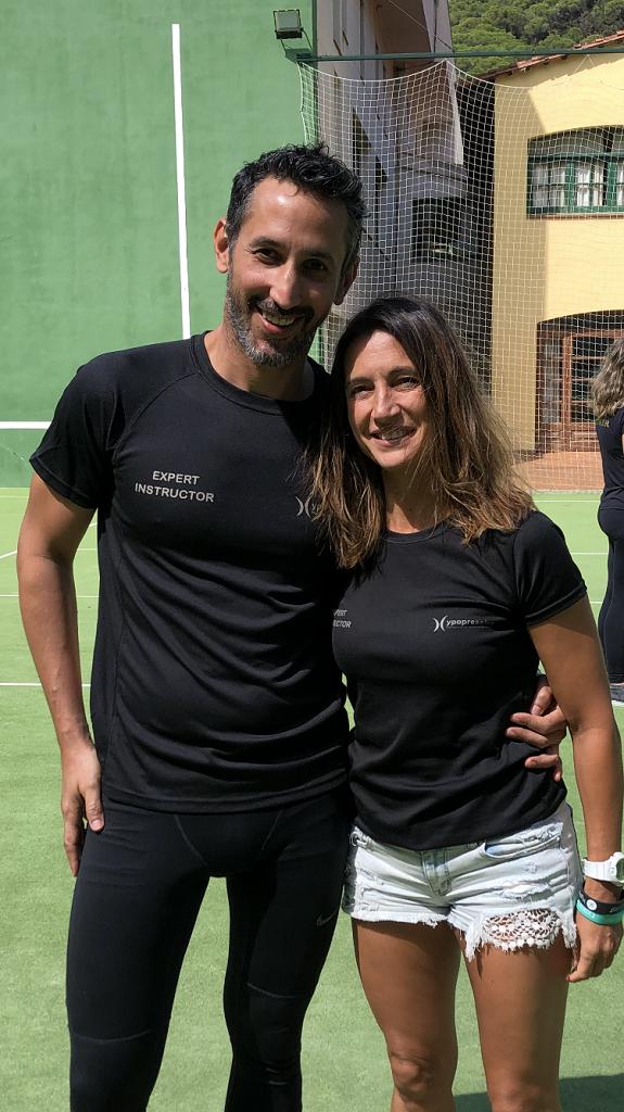 Sonia Encinas y Carlos Castillo profesores de Feel Fit Madrid